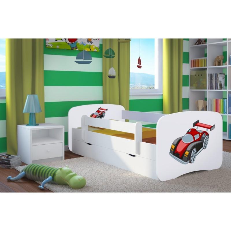 Gedrukte borden voor BabyDreams - racewagen