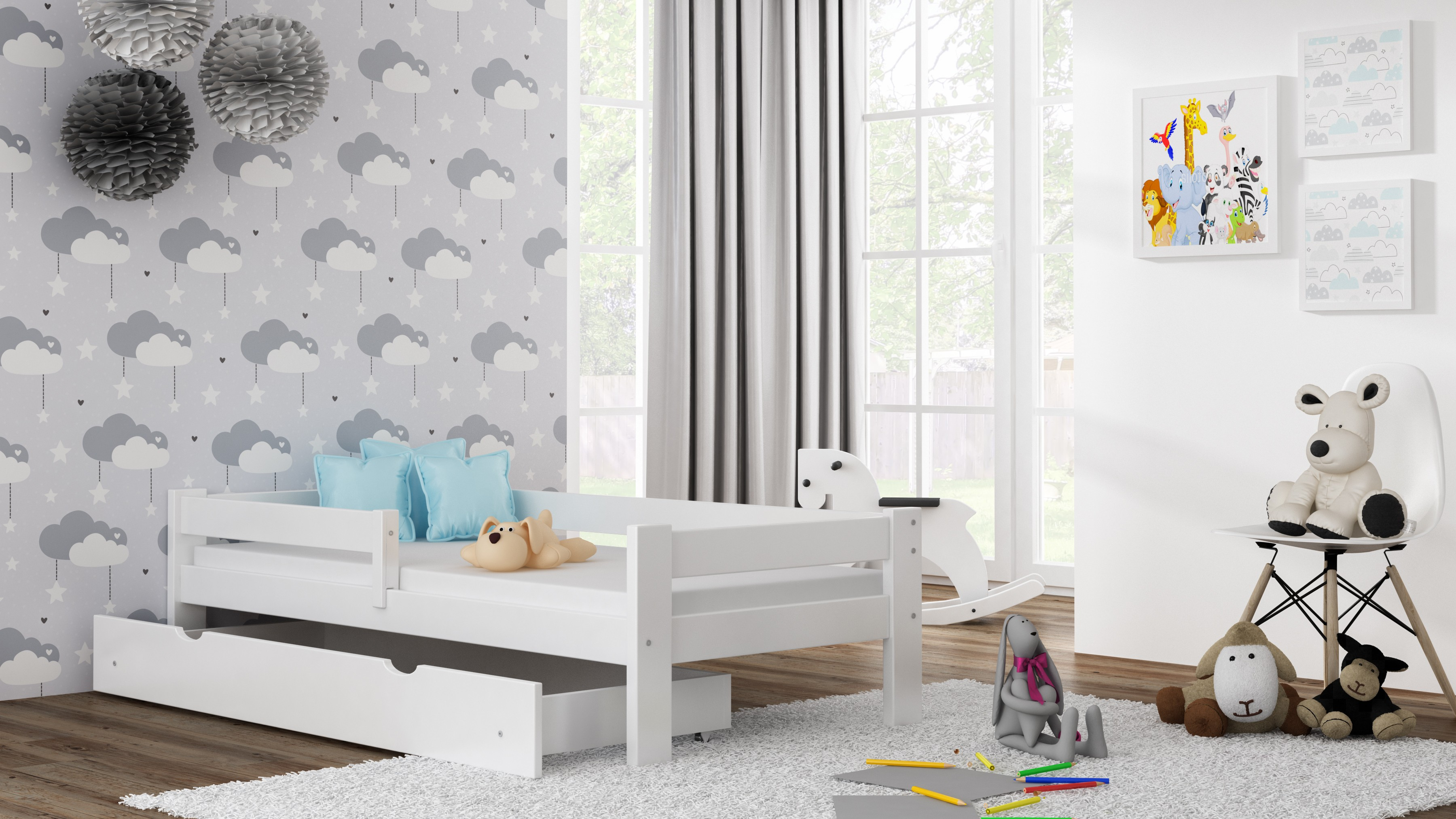 Viengulė lova - Willow White