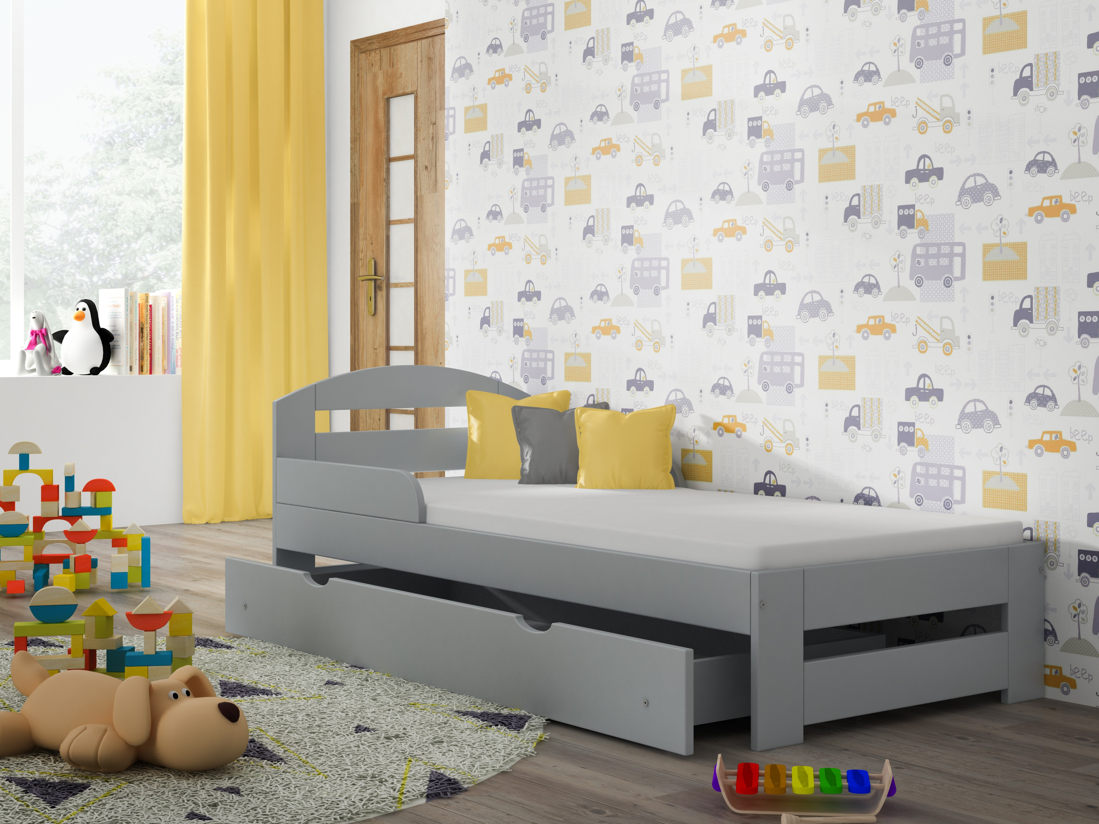 Eenpersoonsbed-Kiko voor kinderen kinderen peuter Junior