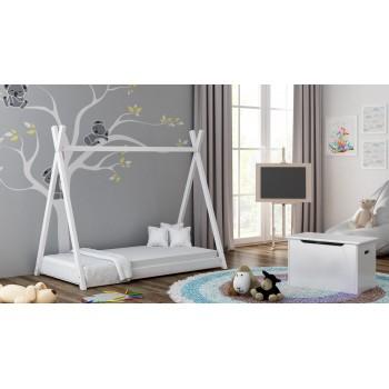 Yhden katoksen sänky - Titus Tepee Style White
