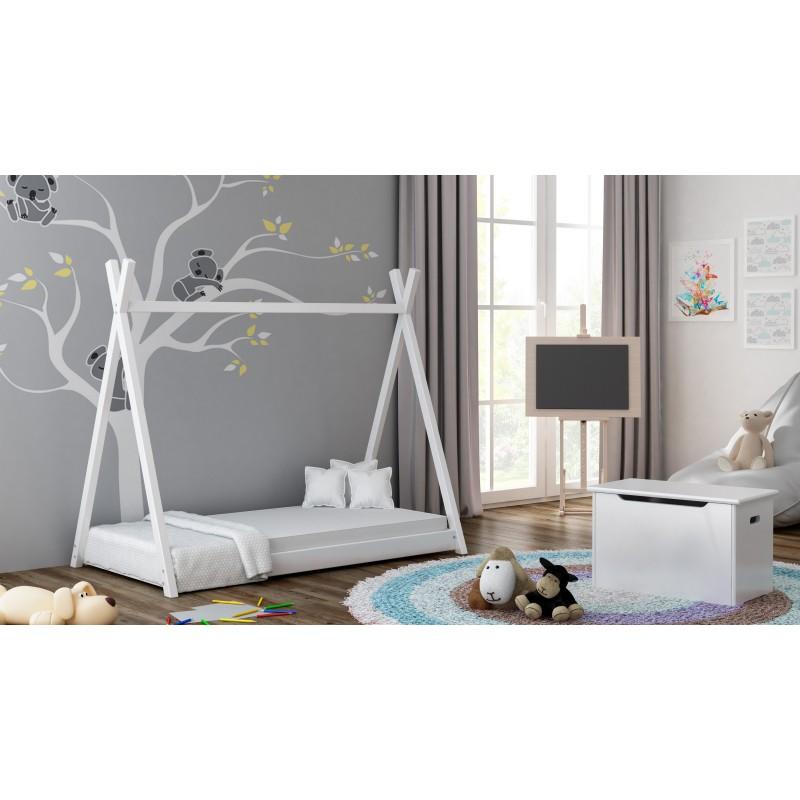Samostatná postel s nebesy - Titus Tepee Style White