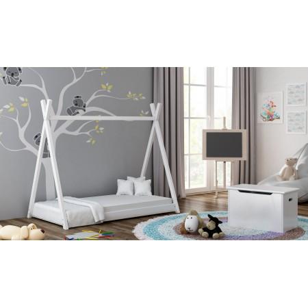 """Viengulė lova su baldakimu - """"Titus Tepee"""" stiliaus vaikams, mažiems vaikams"""