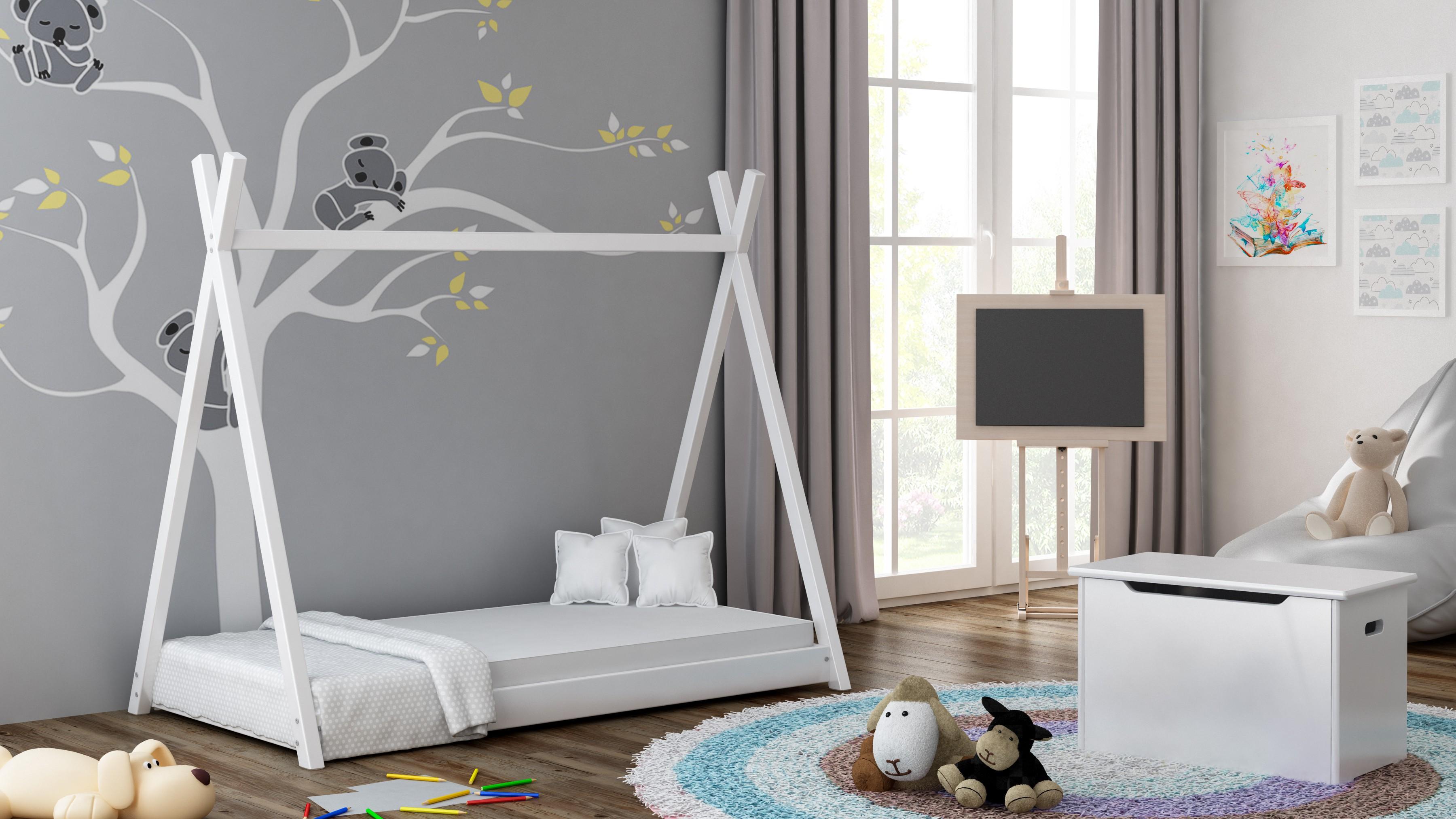 Egyszemélyes baldachinos ágy - Titus Tepee Style White