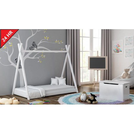 Single Canopy Bed-Titus Tepee stils bērniem bērnu toddler Junior