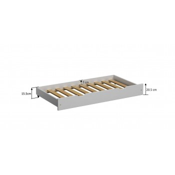 Pull out Trundle Single Bed - Leo White