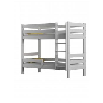 Masīvkoka divstāvu gulta - Tobijs Balts