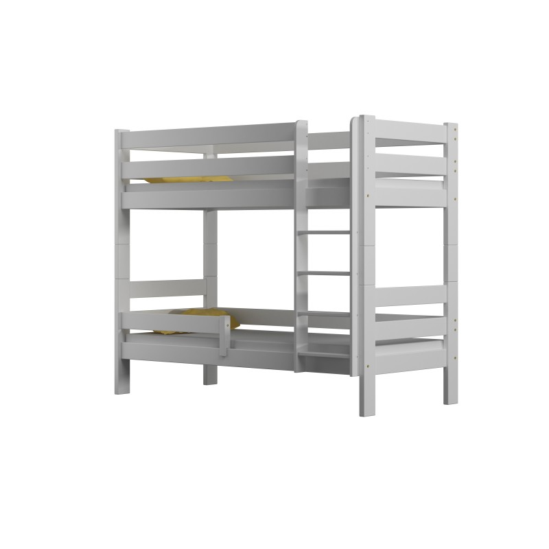 Solid Wood Bunk Bed - Toby For Kids Children Toddler Junior