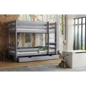 Solid Wood Bunk Bed - Toby Grey
