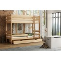 Solid Wood Bunk Bed - Toby Natural with Drawer