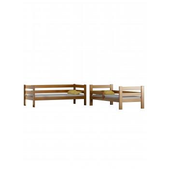Łóżko piętrowe z litego drewna - Toby Split