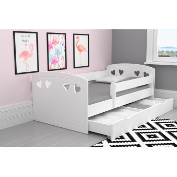 Single Bed Bella -White Drawer