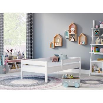 Łóżko pojedyncze Filip – biały pokój bez szuflad