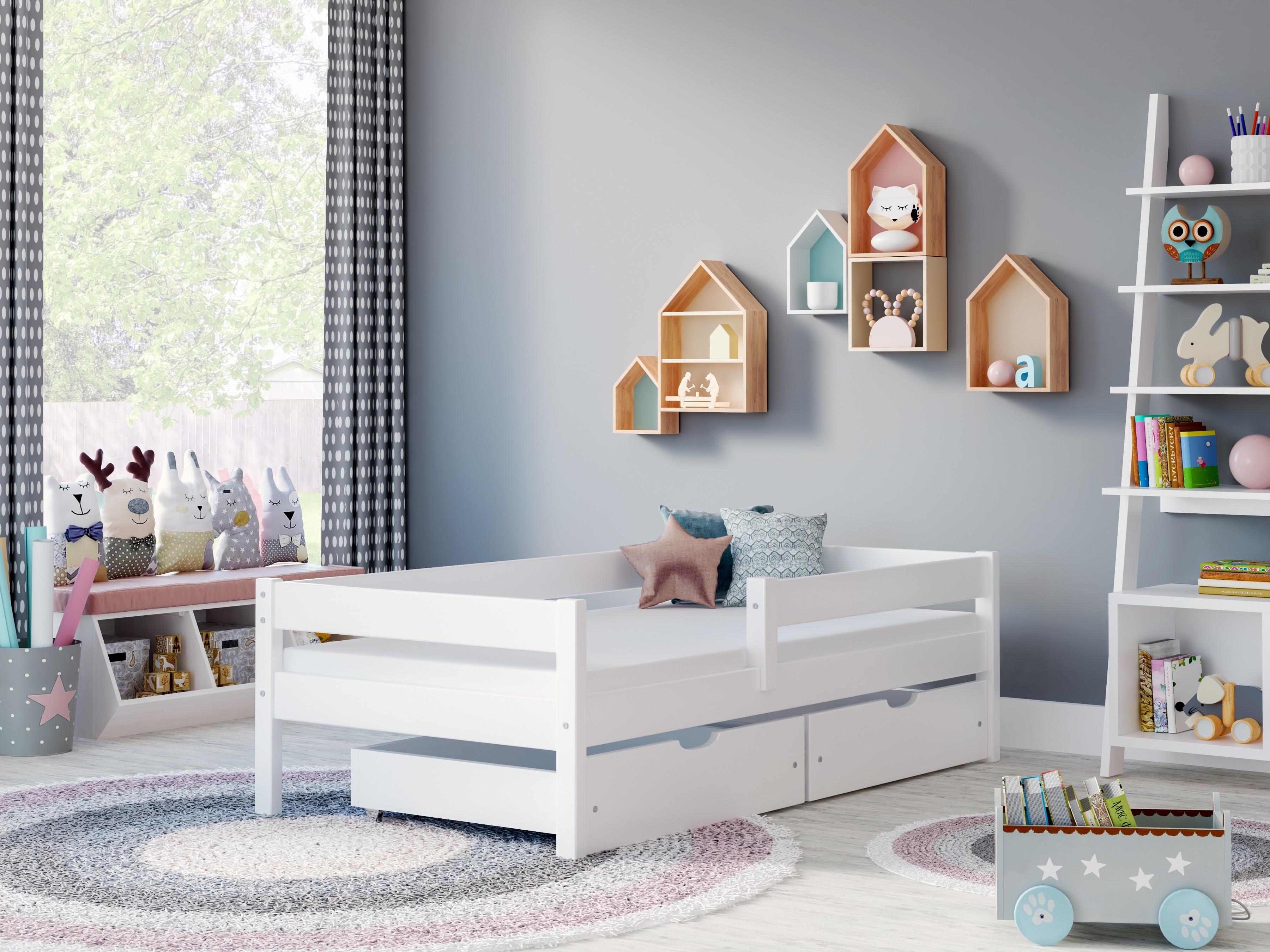 Łóżko pojedyncze Filip - białe bez szuflad
