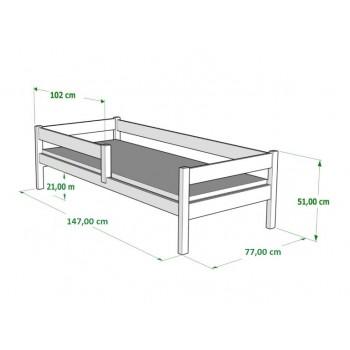 Egyszemélyes ágy Filip - Méretek 140x70