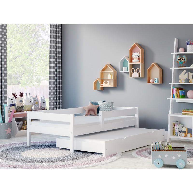 Łóżko wysuwane Mateo – pokój biały