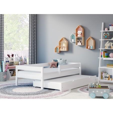 Łóżko pojedyncze z wysuwanym łóżkiem - Mateo For Kids Children Toddler Junior