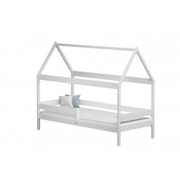 Viengulė lova Teddy - balta be stalčių