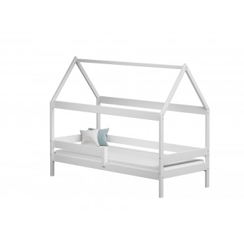 Teddy vienvietīgā gulta - balta bez atvilktnēm