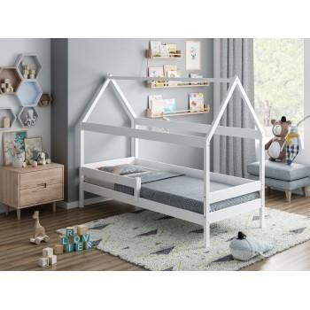 Viengulės lovos meškiukas - baltas be stalčių