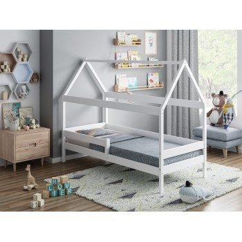 Single Bed Teddy - White No Drawer