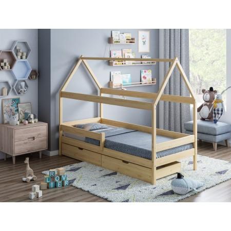 Łóżko pojedyncze w kształcie domu z baldachimem - Teddy