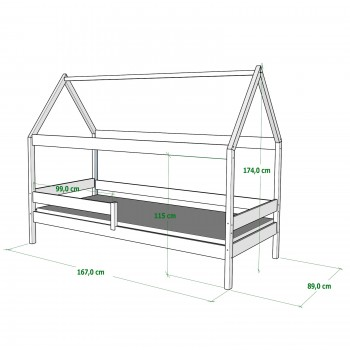 Viengulės lovos meškiukas - 160x80