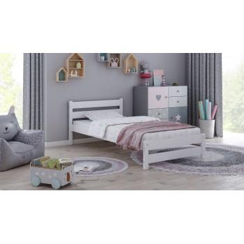 Łóżko pojedyncze Apollo - białe bez szuflady