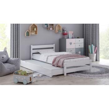 Einzelbett mit Ausziehbett Simba - Weiß