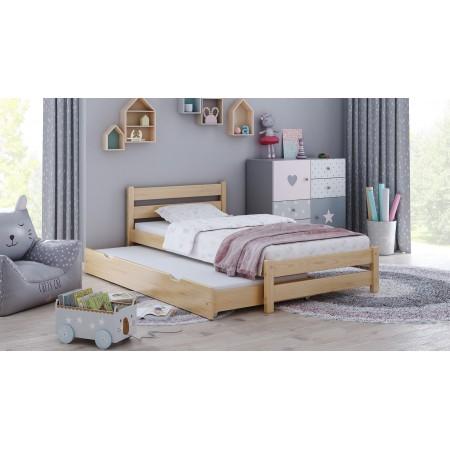 Jednolôžková posteľ s kôlňou - Simba pre batoľa a mládež