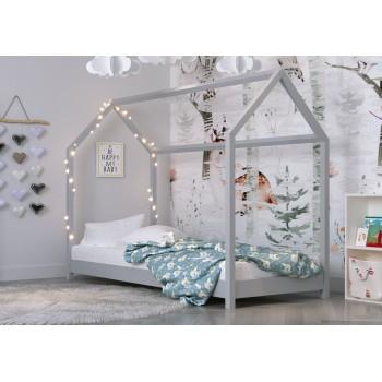 Mājas formas vienguļamā gulta ar jumtu - Kofi