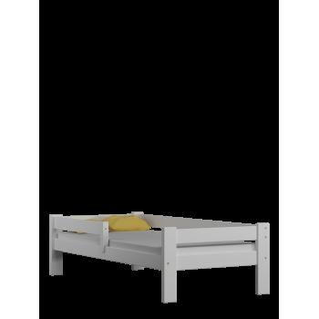 Vienguļamā gulta - vītolu balta bez atvilktnēm