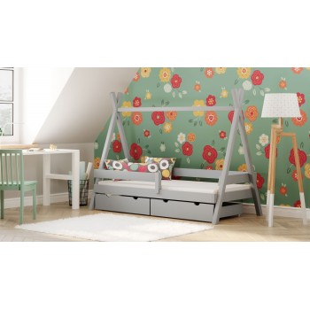 Montesori Tipi ágy - szürke