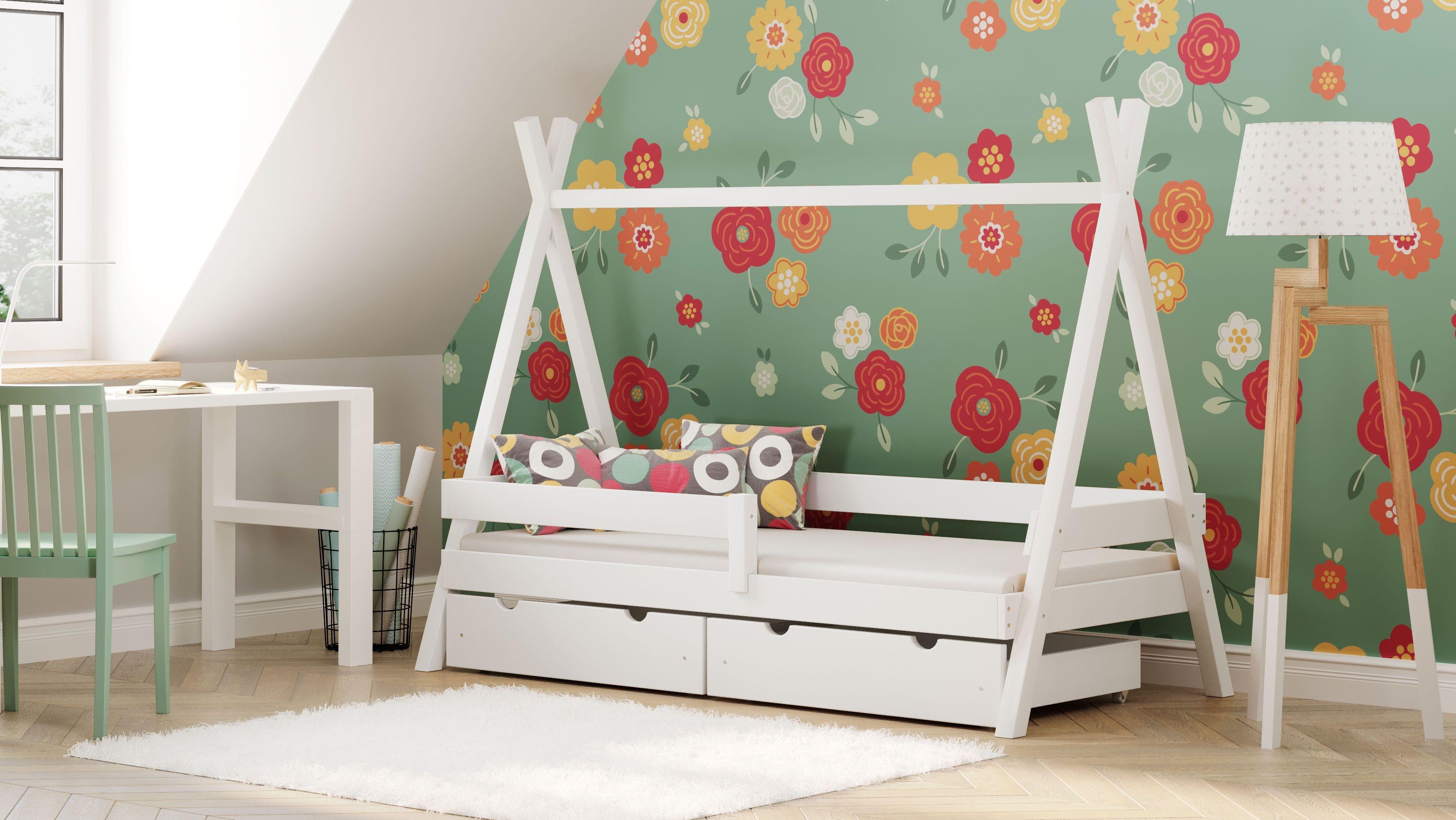Montesori Tipi Bed - White