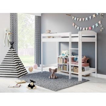 Łóżko Loft Boby Białe
