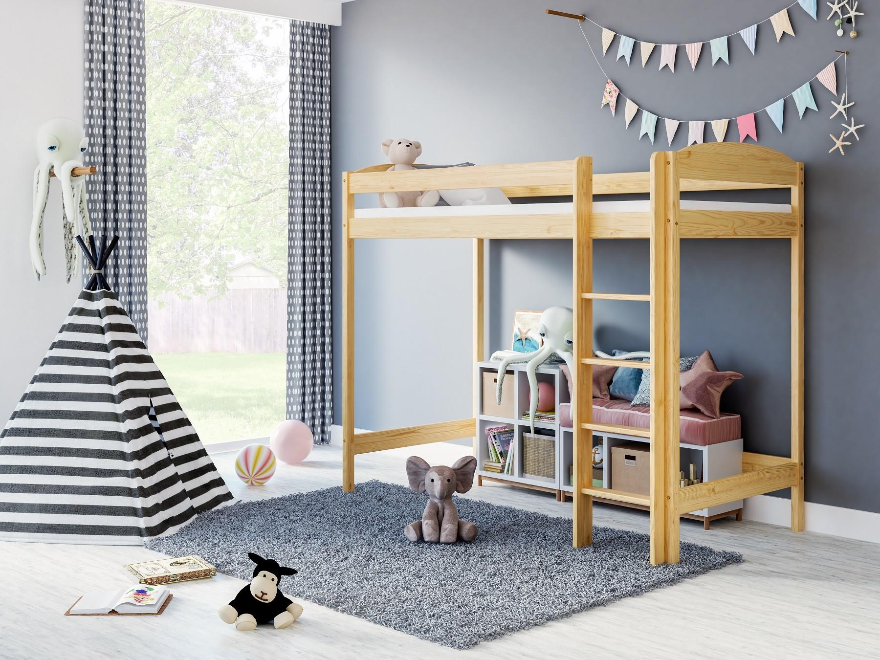 Loft Bed Boby Natural
