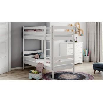Łóżko piętrowe Theo - białe