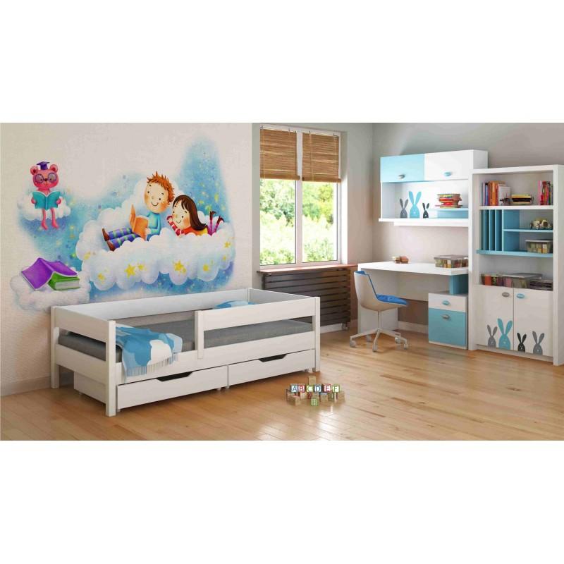 Single Bed - Mix For Kids Children Toddler Junior White