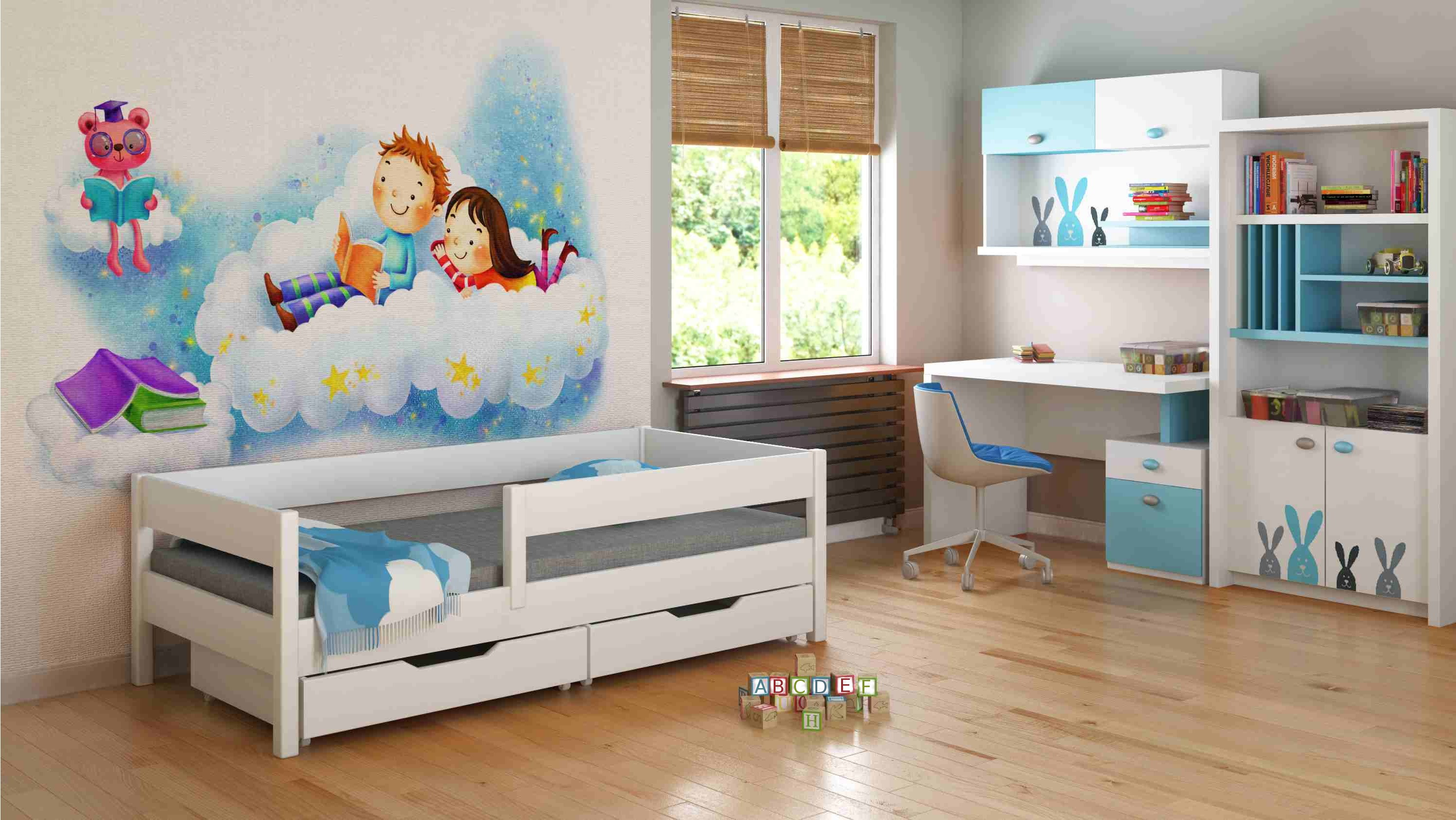 Cama de Solteiro - Mix For Kids Children Toddler Junior White