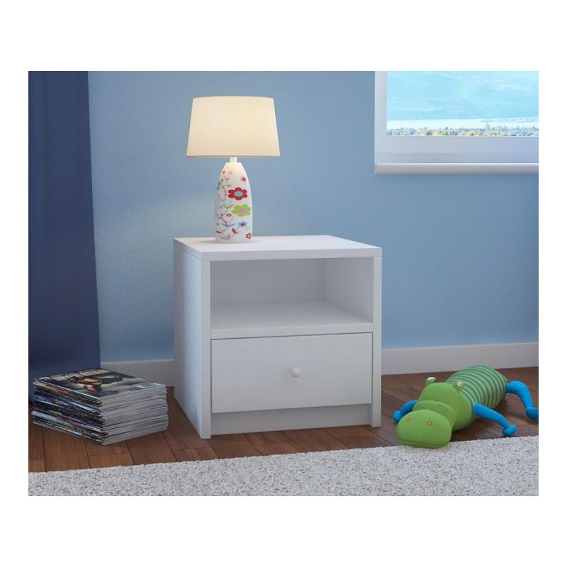 Kids Bedside Table Babydreams - White