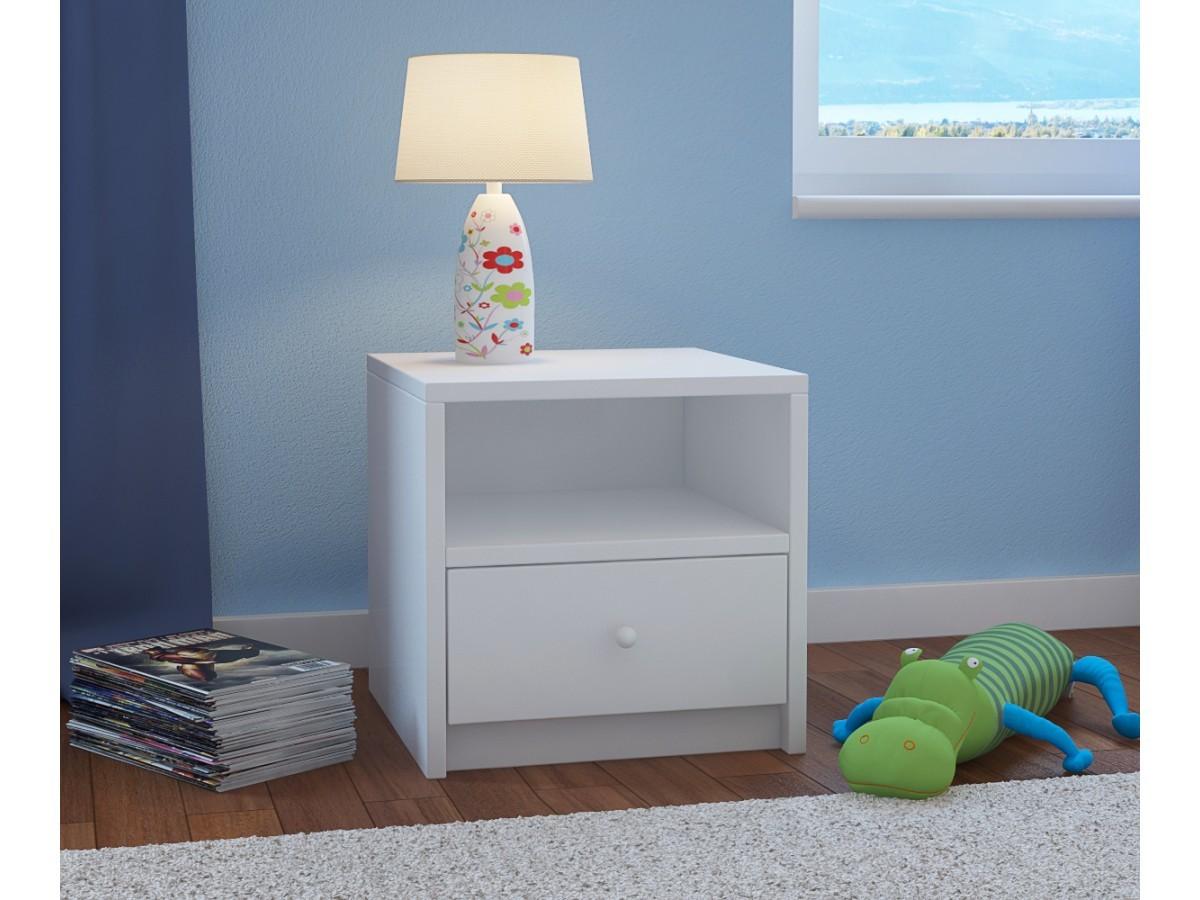 Detský nočný stolík Babydreams - biely