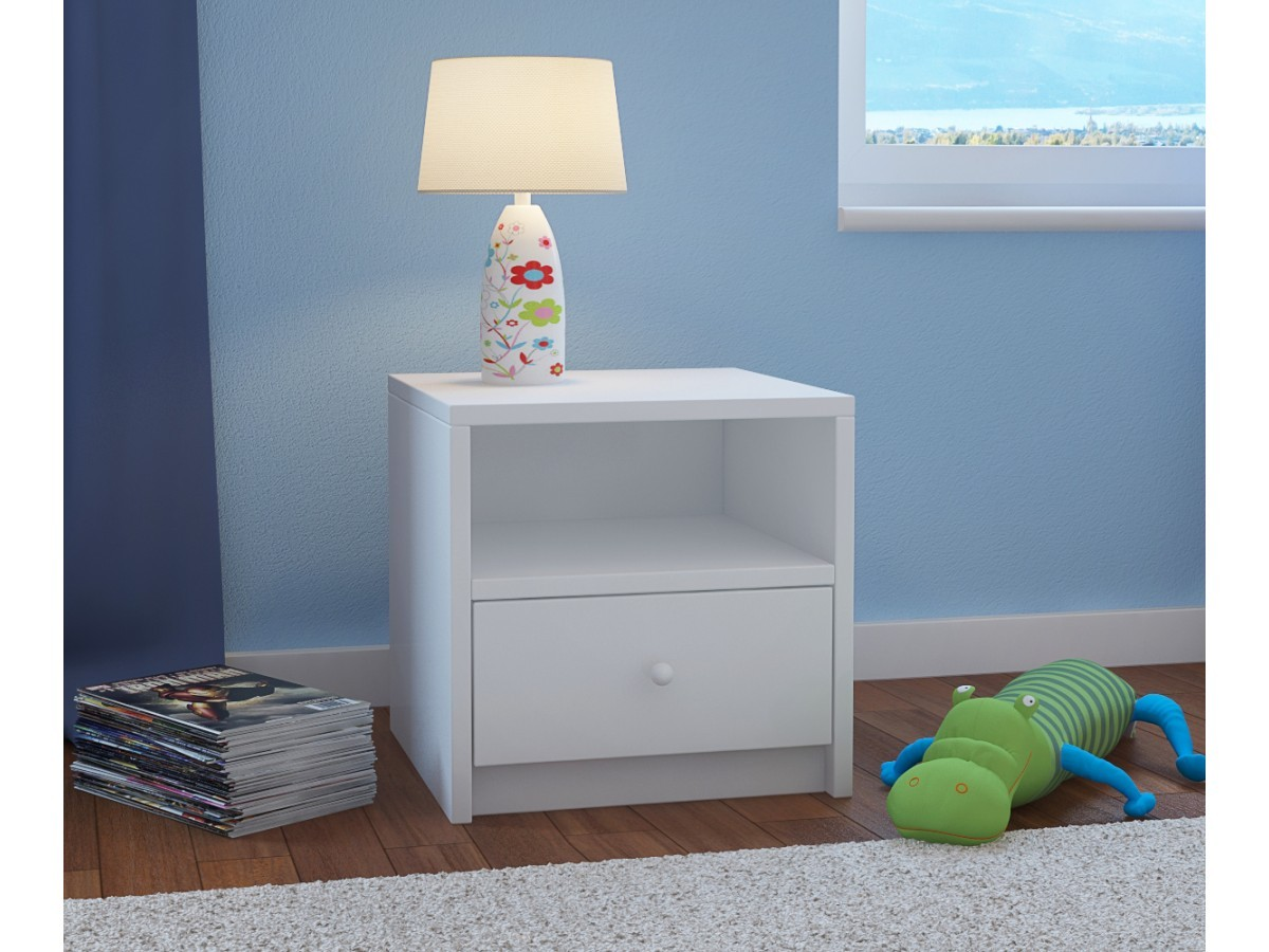 Lasten yöpöytä Babydreams - valkoinen