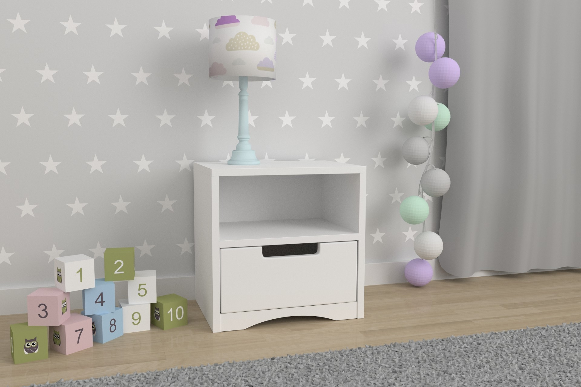 Kids Bedside Table Classic_1