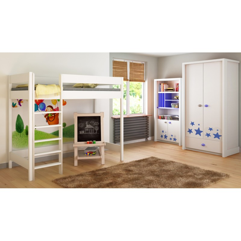 Loft Bed - Hugo H1 For Kids Children Juniors White