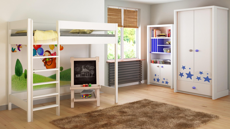Cama Loft - Hugo H1 For Kids Children Juniors White