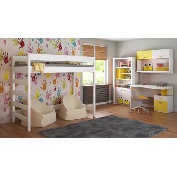 Loft Bed - Hugo H2 For Kids Children Juniors White