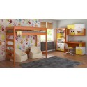 Loft Bed - Hugo H2 For Kids Children Juniors Alder