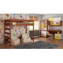 Loft Bed - Hugo H2 For Kids Children Juniors Palisander