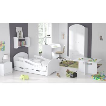 Oskara vienguļamā gulta - bērniem, bērniem un maziem bērniem