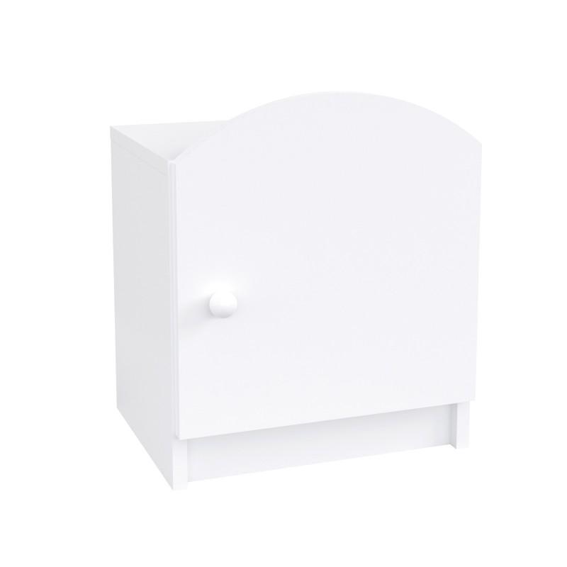 Dětský noční stolek Oscar - bílý