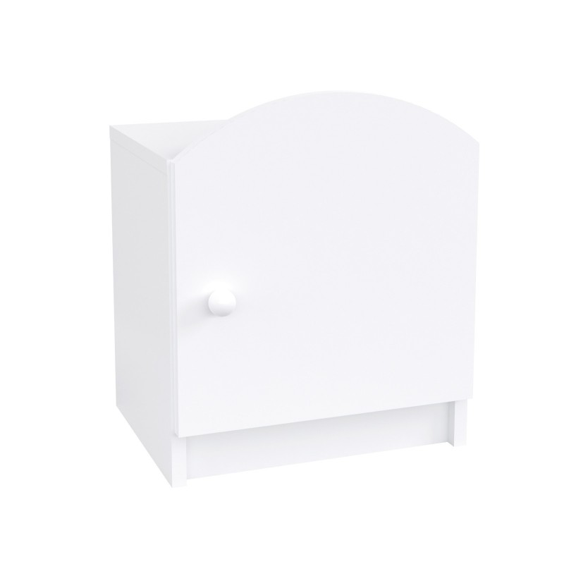 Kids Bedside Table Oscar - White